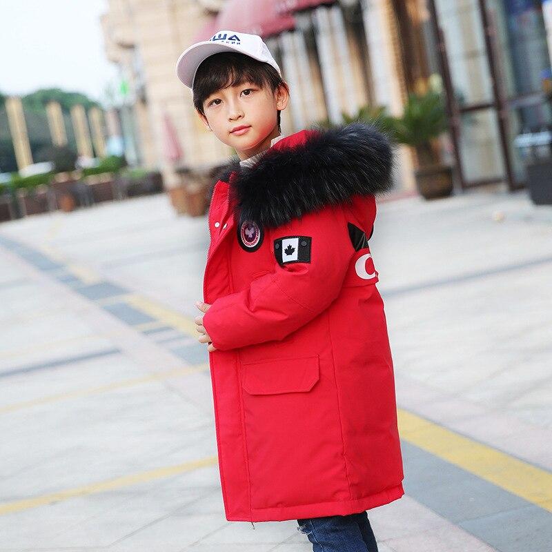 children's down jacket, winter children's wear, a boy's medium and long Korean Edition, Zhongda children's thick coat.
