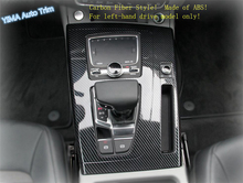 Lapetus Auto Styling Stalls Interior Gear Shift Box Panel Cover Trim Fit For Audi Q5 2018 - 2020 ABS Matte / Carbon Fiber Look 1 pc carbon fiber car interior trim control panel stickers for audi q5 10 17