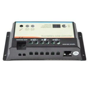 Image 2 - EPever controlador Solar de doble batería 20A 10A, 12V 24V, alta eficiencia, PWM, regulador de carga, Pantalla remota Opt, Cable de temperatura de MT 1