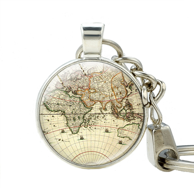 World map key holder vintage globe pendant keychain teacher gift world map key holder vintage globe pendant keychain teacher gift world travel adventurer jewelry keychains key gumiabroncs Image collections