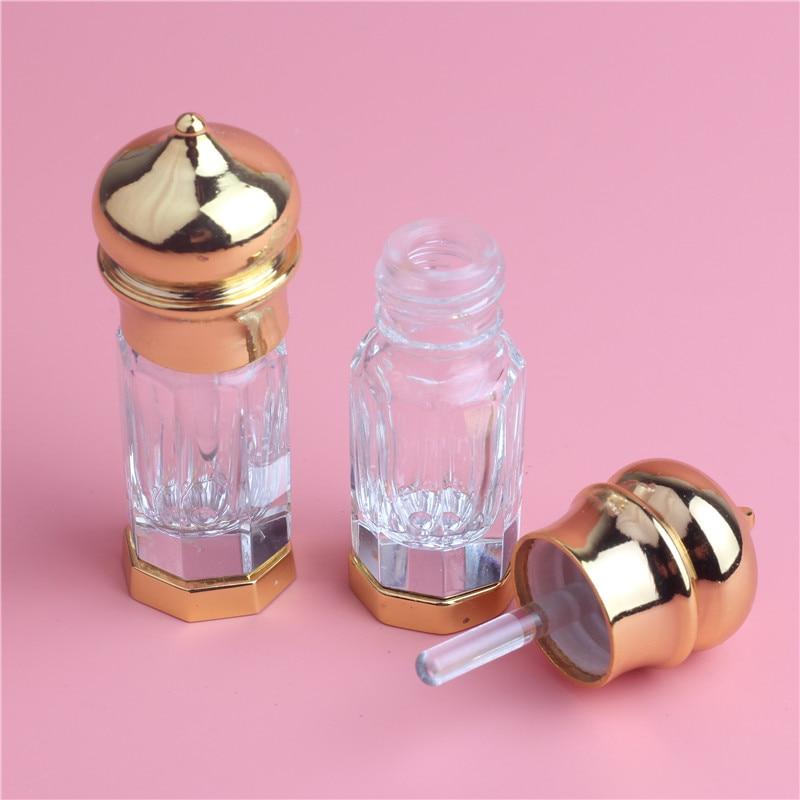 1kpl / erä 3ml kullanvärinen alloylipullot eteerisille öljyille lasihävittäjä Pieni pullo kiillotetuista lasipulloista henkilökohtaiseen hoitoon