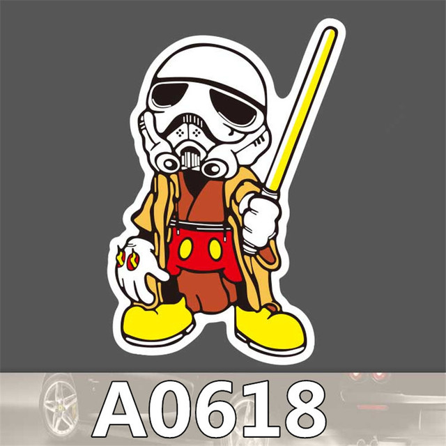 fashion cool star wars tide brand scratch stickers pvc waterproof