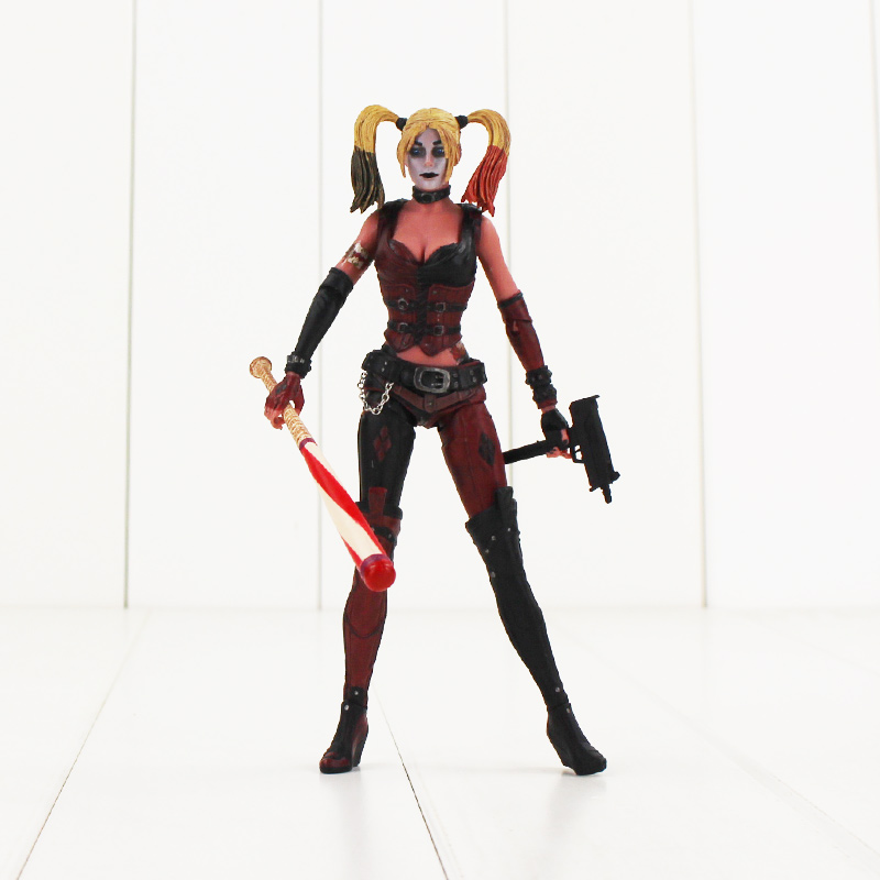 цены  New sytle NECA Harley Quinn PVC Action Figure Collectible Model Toy