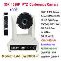 Sistema de conferencias profesional 60Fps 30X zoom óptico 1080P HDMI 3G-SDI HD-IP cámara de vídeo POE