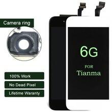 Продажа 100% тестирование для iphone 6 ЖК-дисплей для Tianma качество Дисплей с Сенсорный экран 4,7 дюймов для iphone ЖК-дисплей дигитайзер 6 г Черный и белый