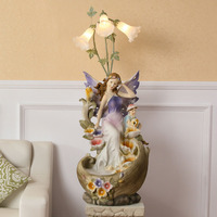 Rockery water fountain lamp humidifier European lucky angel Home Furnishing jewelry ornaments Shui waterscape equipment