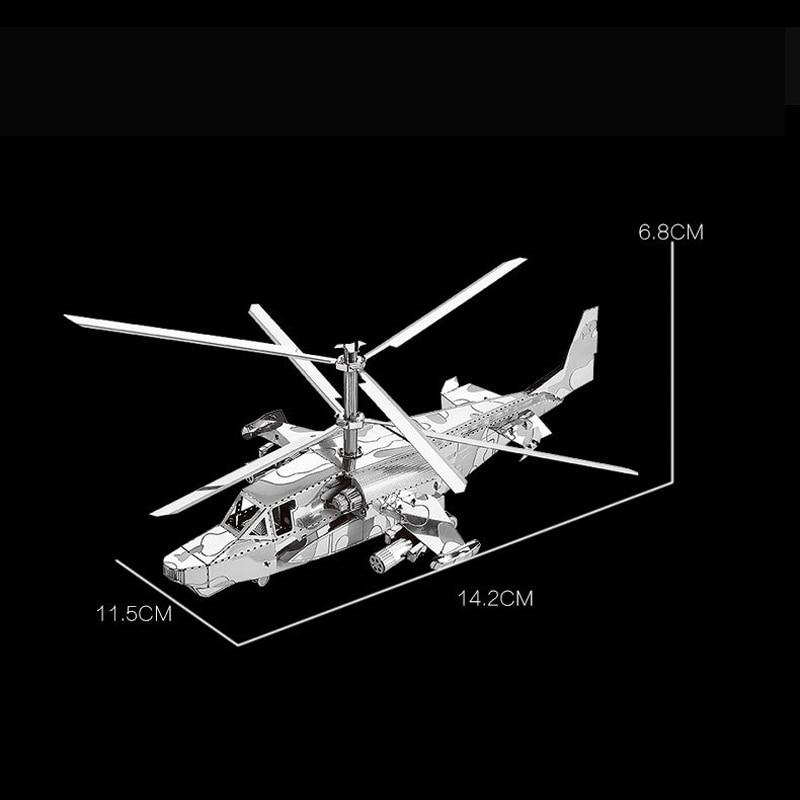 Nanyuan 3D Metal Puzzle Ka-50 ვერტმფრენების - ფაზლები - ფოტო 2