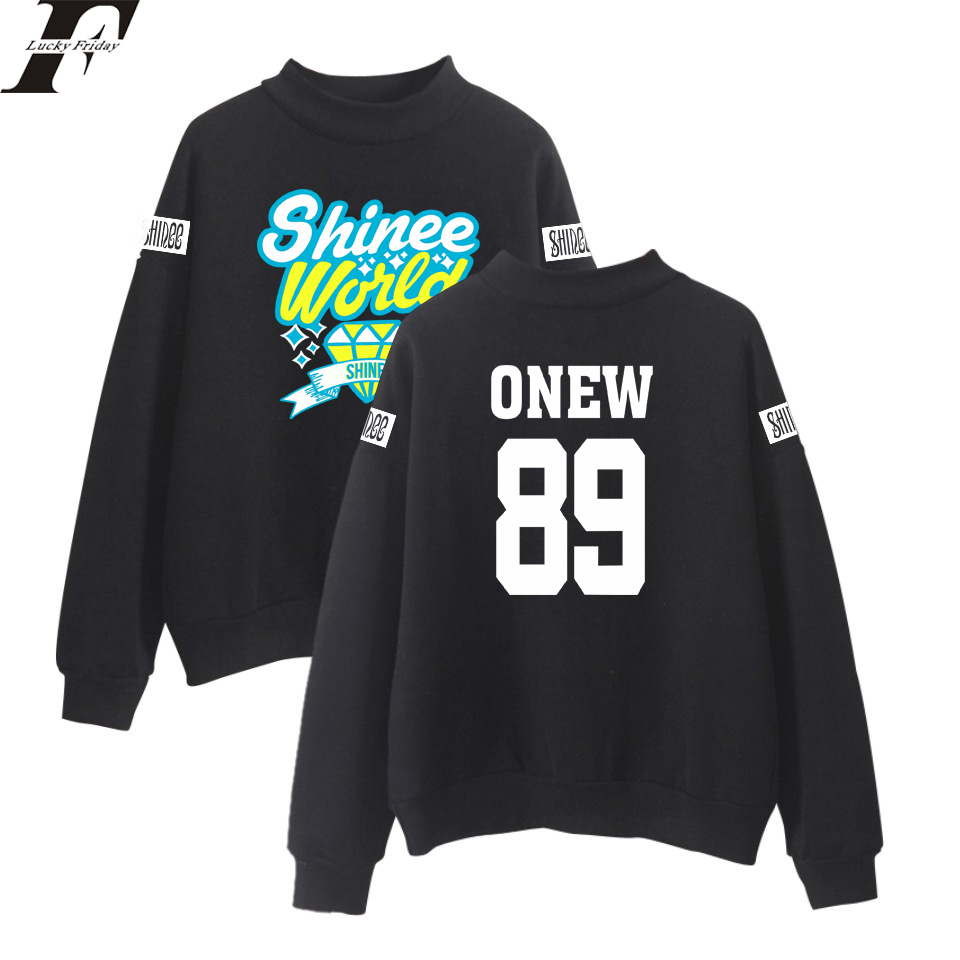 LUCKYFRIDAYF 2017 SHINee Jonghyun R.I.P. Kpop Turtlenecks Hoodies Sweatshirts Women/Men Korean Style Fashion Kpop Hoodie Clothes