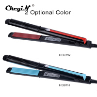 Professional Temperature Control Titanium Electronic Hair Straighteners Tools Straightening Corrugated Iron 110 240V 4546