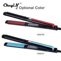 Professional Temperature Control Titanium Electronic Hair Straighteners Tools Straightening Corrugated Iron 110 240V 4546