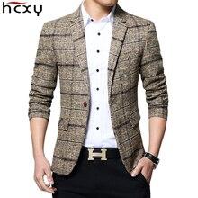 HCXY 2019 Yeni Varış Marka Giyim Ceket erkek Ekose Takım Elbise Ceket Erkek Blazer Moda Ince Erkek Casual Blazers Erkekler boyutu M 5XL