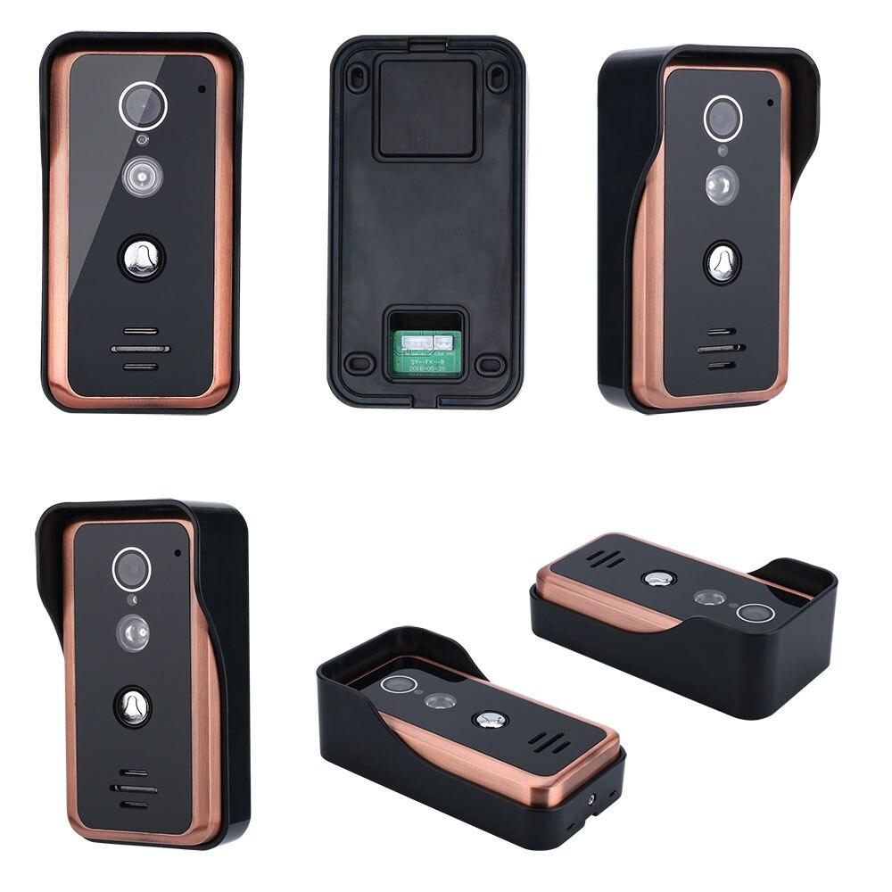 MAOTEWANG 7 дюймов wi fi беспроводной видео дверной звонок Домофон системы с HD 1000TVL проводной камера запись изображения - 4