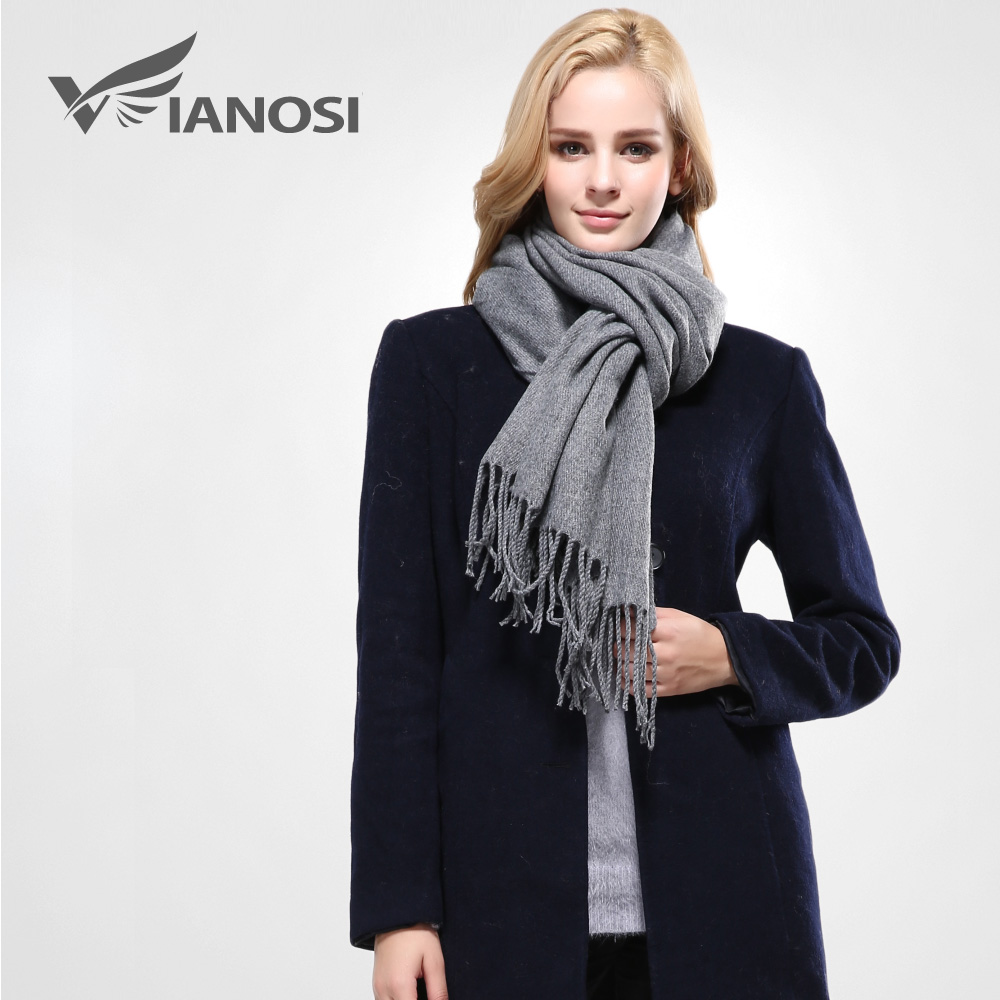 260ac5768454 VIANOSI Winter Scarves For Girls Thick Cotton Knitted fox Scarf ...