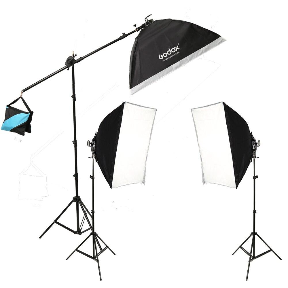 Godox Studio Photo Continuous Lighting (15x36w) Bulbs Light stand Softbox Kit professional godox ql1000 1000w photo photography studio video continuous light lighting