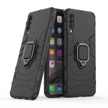 Armor Ring Case For Samsung Galaxy A50 Magnetic Car Hold Shockproof Soft Bumper Phone Cover