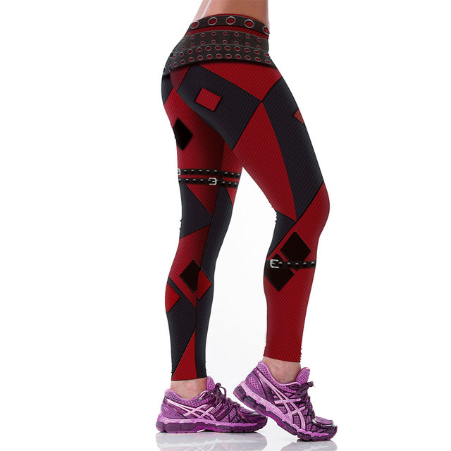 Harley Quinn Sexy Low Waist  Legging