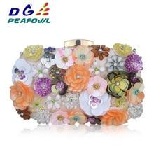 купить Women Flower Sequined Flower Evening Bags Clutch Bag Women Clutches Lady Wedding bag Handbag Purse онлайн