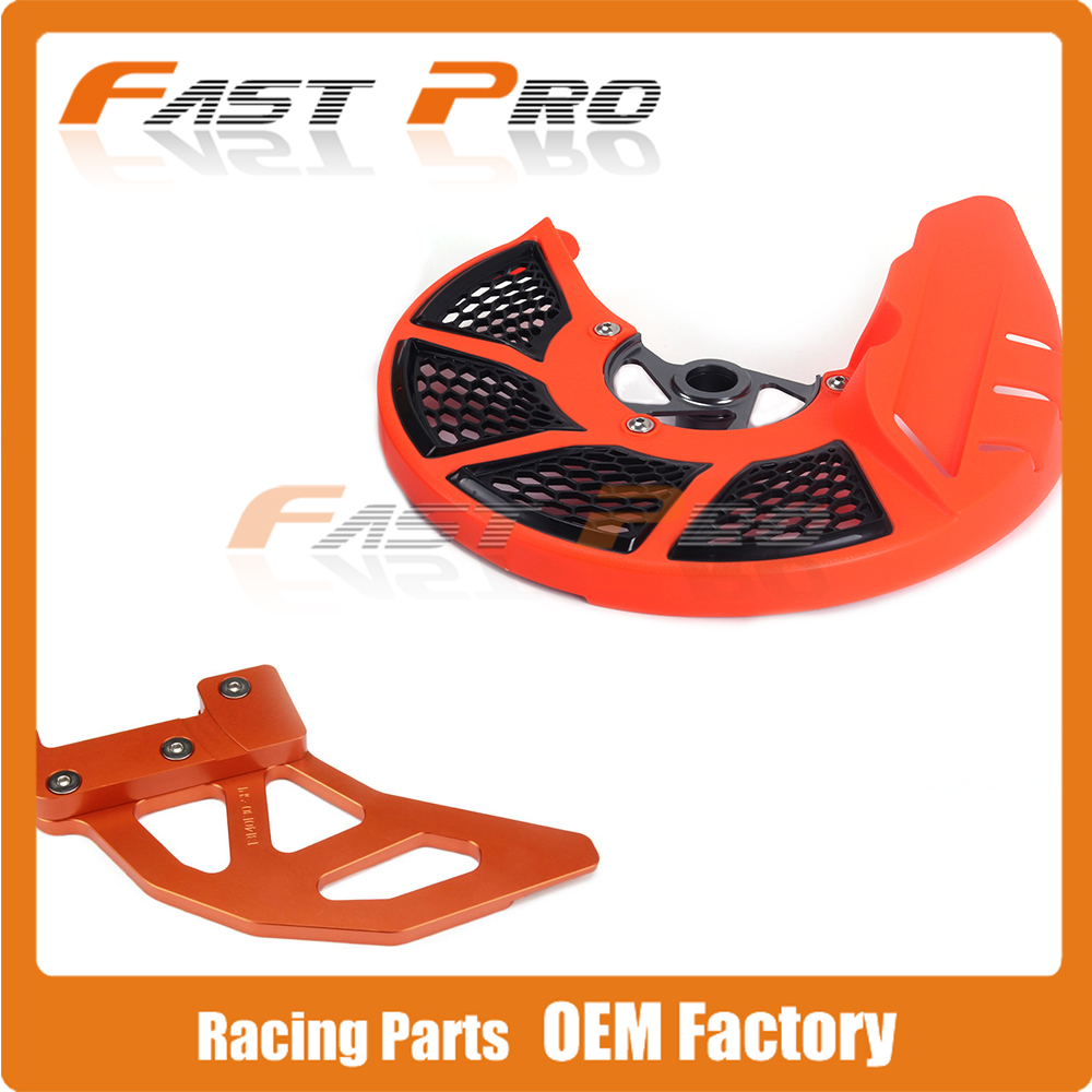 Moto Front & Rear Brake Disc Rotor Guard Protector Cleaner Para KTM SX SX-F EXC XC XCF EXC-F 125 150 200 250 300 350 450 500