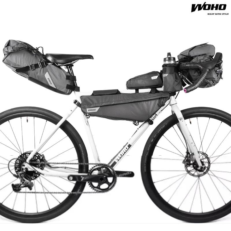 WOHO XTOURING Bicycle Handlebar Bag Accesory Bag MTB Waterproof Head Bag Road Bike Cycling Pannier Bicicleta Bag Storage PackWOHO XTOURING Bicycle Handlebar Bag Accesory Bag MTB Waterproof Head Bag Road Bike Cycling Pannier Bicicleta Bag Storage Pack