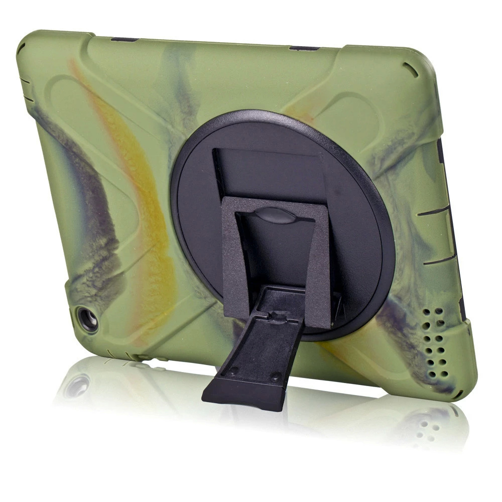 HDW-IP4 Shockproof Protector Sillcone Rubber PC Armor Case Stand Cover For Apple ipad 2/3/4 9.7Tablet