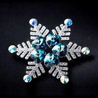 2017 A Maioria de Moda Personalizado de alta qualidade Acessórios Do Casamento presentes de Natal do floco de neve broche pinos para mulheres jóias ZX36
