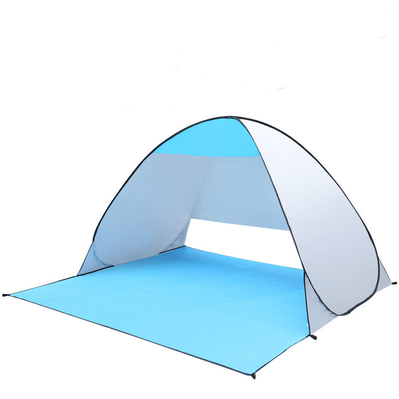 Outdoor 1-2 Person Camping Fishing Picnicing Summer Beach Tent UV Protection Automatic Pop up Sun Shelter велосипед challenger agent lux 26 черно серый 18