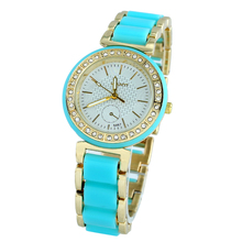 New Ladies Gown Watch Gold Roman Numerals Quartz Stainless Metal Wrist Watch Excessive High quality Reloj Mujer Relogio Golden