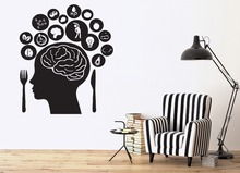 Creative Wall Vinyl Stickers Human Brain Thoughts Desires Diea Home Decor Decals Removable GW-80