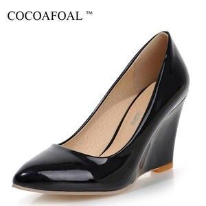 COCOAFOAL Woman Stiletto High Heels Shoes Black Pumps 2018 838740194045