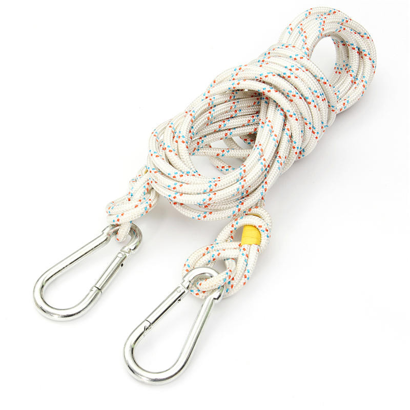 NEW 10M High Strength Professional Steel Wire Safety Rope 8mm Diameter Climbing Survival Lifting Sling Safety Harness hinda family lifeline 10mm wire rope core fire protection safety rope escape rope down device