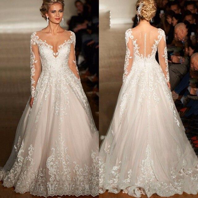 2017 Haute Couture Аппликации Свадебное Платье Классический Royal Princess Свадебное Платье Ультра Романтическая Свадебные Платья Vestidos de Casament