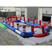 Inflatable football pitch size 8*4 M large outdoor inflatable recreation football game Inflatable Soccer court outdoor game