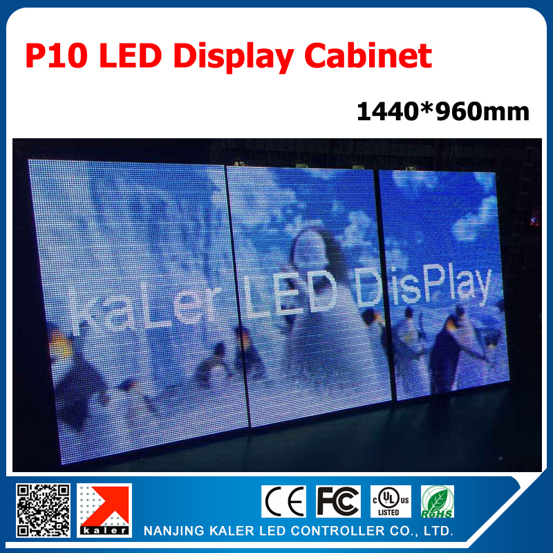 TEEHO 1440*960mm Outdoor P10 Led Display Board 320*160mm SMD3535 Full Color P10 Led Panels Standard Open-front Display Cabinet