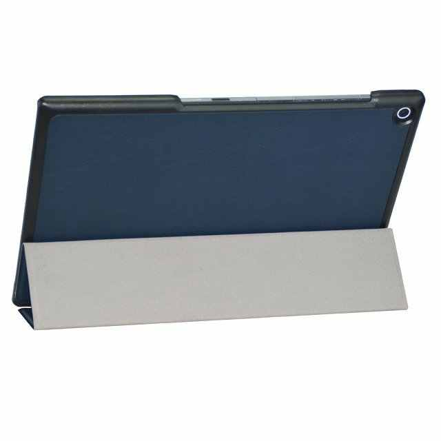 Ultra slim flip cover beschermende shell voor sony xperia tablet z2 10.1 ''tablet custer folio stand leather case