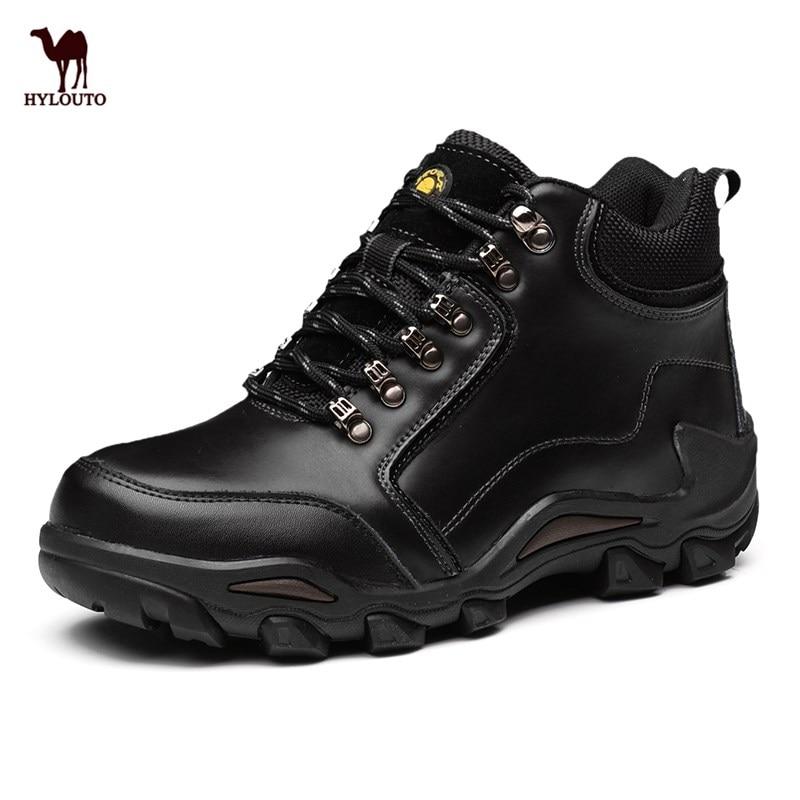 Winter Sneakers Leather Sneakers Men Hiking Shoes Outdoor Sport Shoes Trekking Climbing Tactical Boots Waterproof Men's Footwear hot sale winter hiking shoes men breathable outdoor leather trekking lace up sneakers boots brand climbing slip camouflage hunt