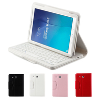 For Samsung Galaxy Tab E 9.6 Smart Magnetic Removable Bluetooth Keyboard Case Folio PU Leather Stand Cover for Samsung T560 T561