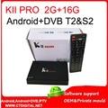 10pcs KII Pro 2GB/16GB DVB S2+T2 5.1 Android TV Box Amlogic S905 Quad-core Support DVB-S2/ DVB-T2 Smart Media Player