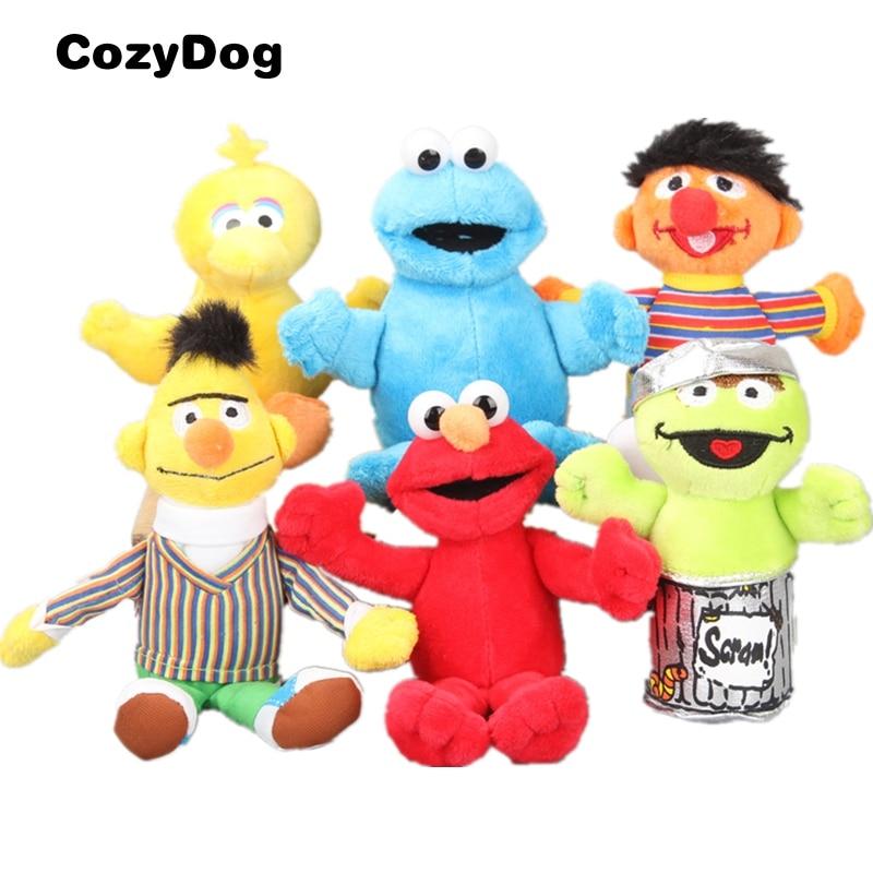 2019 Selling Sesame Street Elmo Big Bird Soft Plush Toys 6Pcs//Set Keychains