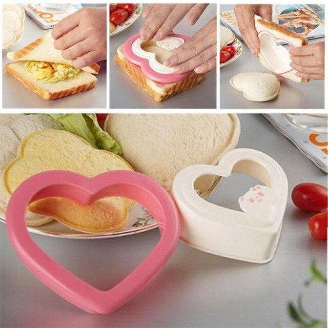 PP тост торта резак сэндвич резак сэндвичница плесень любовь сердце Форма сэндвич плесень Прямая поставка