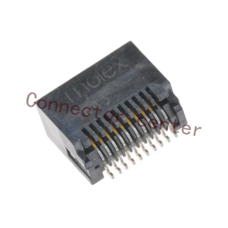 Original SFP Connector For Molex 0.8mm Pitch 20PIN surface Mount SMD 744410001