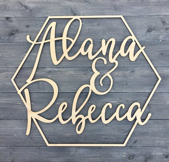 Us 10 39 20 Off Personalized Wedding Laser Cut Name Wooden Decor Reception Decor Wedding Sign Hoop Photo Prop Wall Sign In Party Backdrops From Home