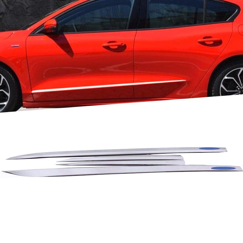 Accessoires pour Ford Focus 2019 2020 berline extérieur ABS Chrome porte latérale Protection anti-retour garniture de moulage style de voiture