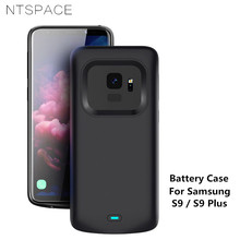 NTSPACE Backup Power Bank Case For Samsung Galaxy S9 Plus Case External Battery Power Case For Samsung S9 Battery Charger Cases 3500mah rechargeable li ion external battery power case w stand for samsung galaxy s5 black