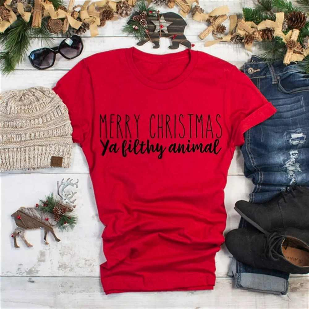 d94e65f6 MERRY CHRISTMAS T-shirt slogan cotton fashion grunge tumblr party holiday  gift celebrate slogan shirt
