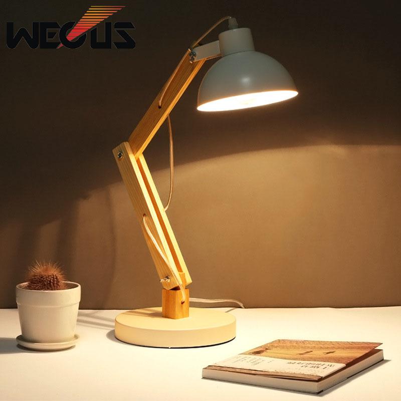 Nortic simple creative lamparas de mesa para el dormitorio for study work lampe de chevet de chambre