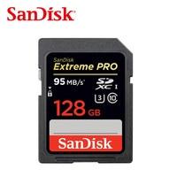 SanDisk Extreme PRO SDHC sd-karte 16 GB 32 GB 64 GB 128 GB Speicherkarte C10 U3 bis zu 95 MB/s, für kamera, camcorder und computer