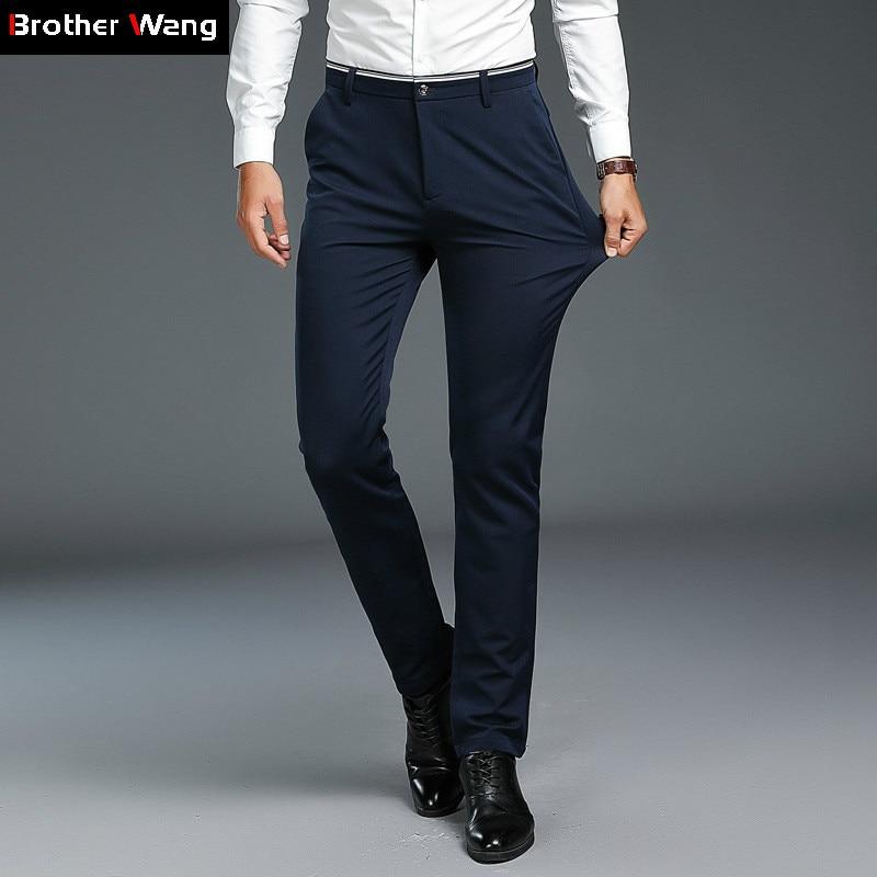 0e543cdfd825 Men Clothes 2019 Autumn New Black Slim Casual Pants Fashion Business  Elastic Men s Work Skinny Trouser