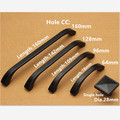 Hole CC 64mm/96mm/128mm/160mm Zinc Alloy handle modern handle Kitchen Furniture Handle bedroom drawer handle black color