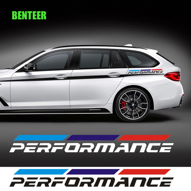 2pcs Pvc New M Performance Car Side Sticker For Bmw F30 F10 F20 E90