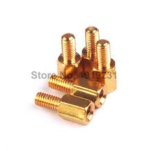 100PCS 6+6 copper pillars M3 6 mm high circuit board mounting posts